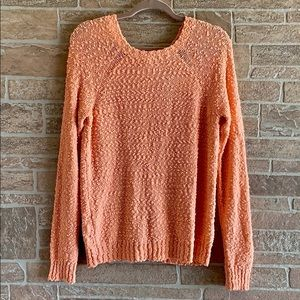 Hinge Back Button Sweater
